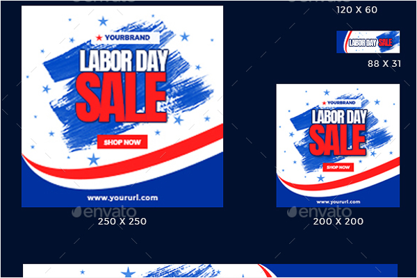 Labor Day Banner Celebration