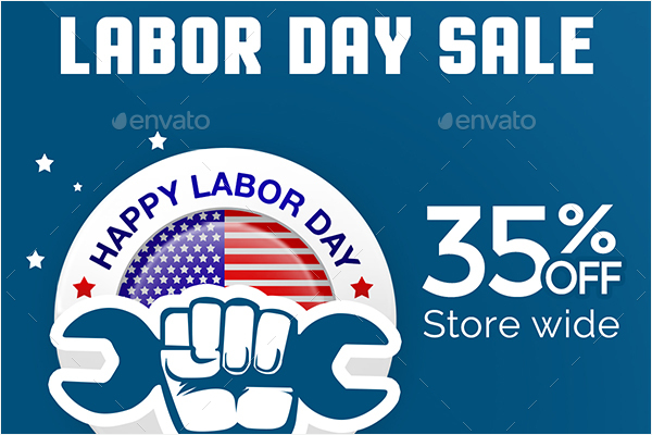 Labor Day Banner Set Design