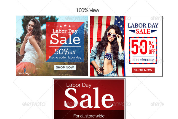 Labor Day Banner Store Design