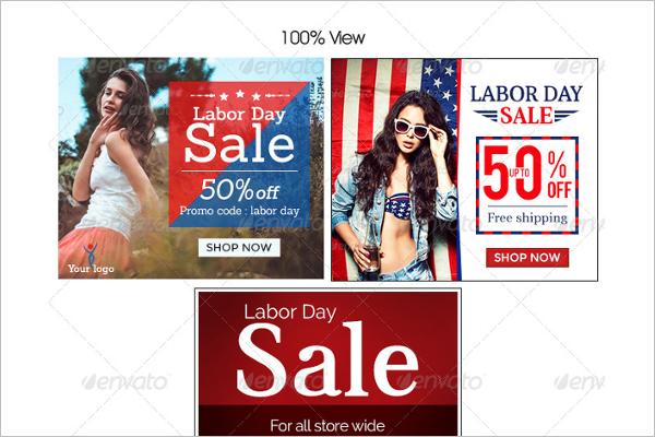 Labor Day Banner Store Design