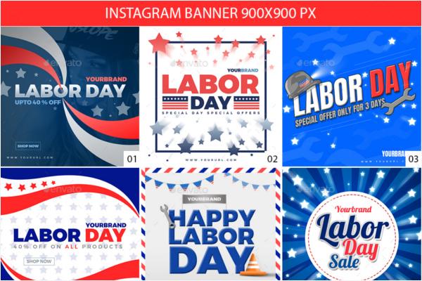 Labor Day Instagram Banner Design