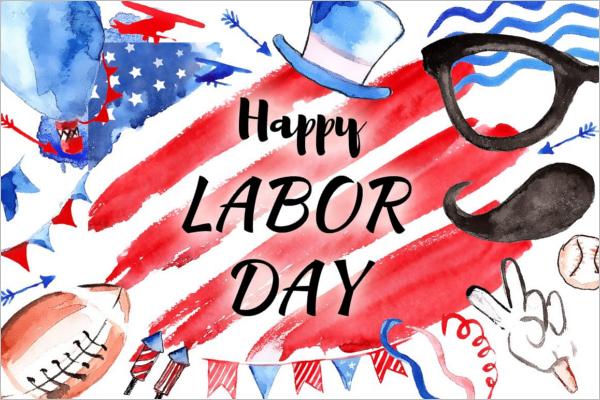 Labor Day Patriotic Banner Design