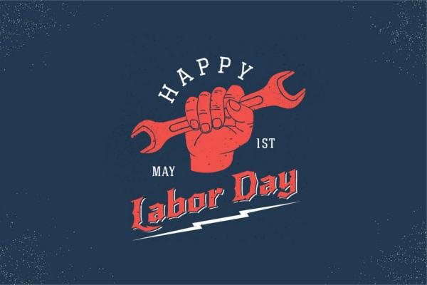 Labor Day Retro Banner Design