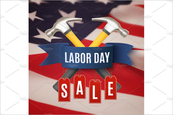 Labor day s Sale Banner Design