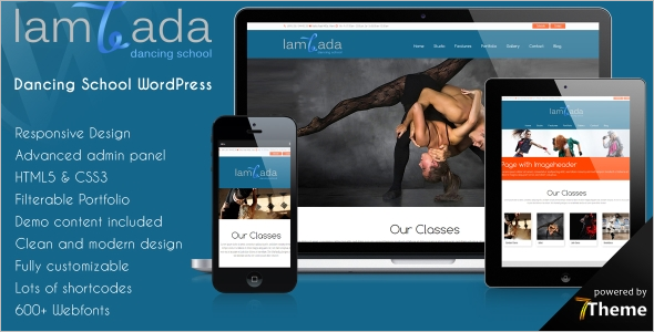 Lambada Dancing School WordPress Theme