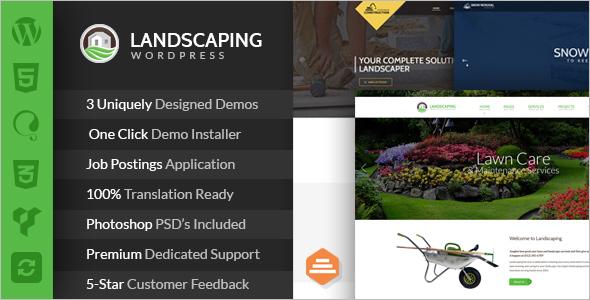 Landscape Construction & service WordPress Theme
