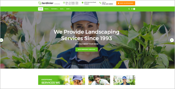 Landscaping Services WordPress Theme