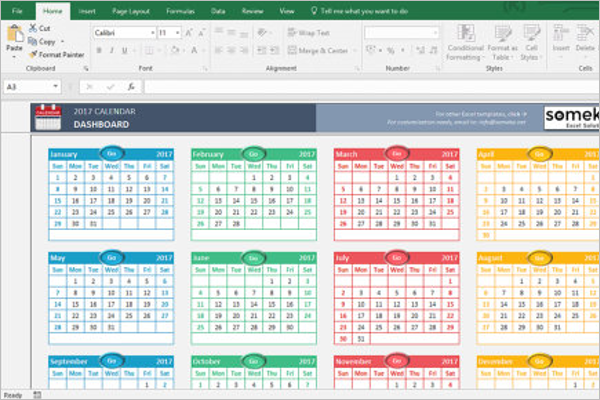 Excel Calendar Templates Free Premium Creative Template