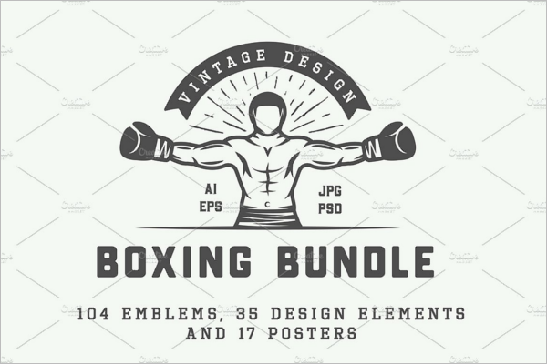 Letter Boxing Badge Template