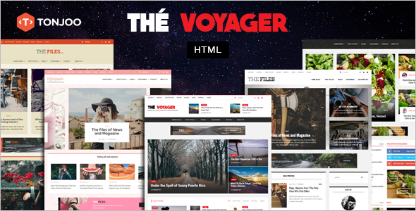 Magazine and Blog HTML Template