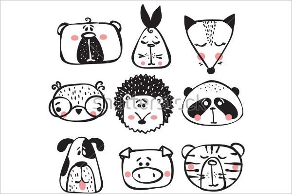 Mammal Animal face Template