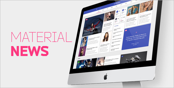 Material New Blog Template