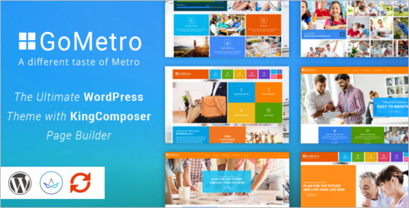 Metro One Page Portfolio Template