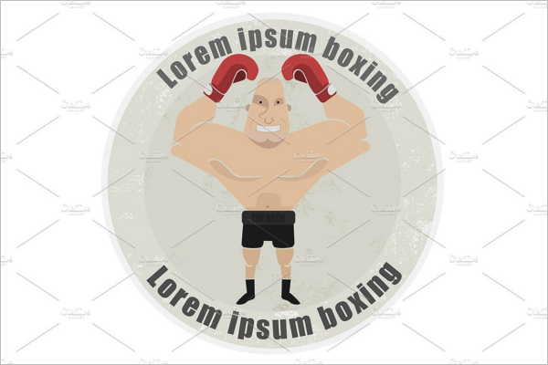 Minimal Boxing Badge Template