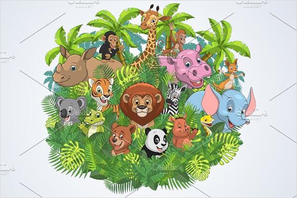 Minimal Cartoon Elephant Design