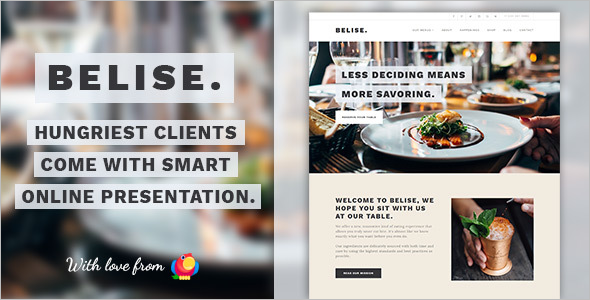 Minimal Chef WordPress Theme