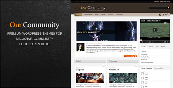 Minimal Communityn WordPress Theme