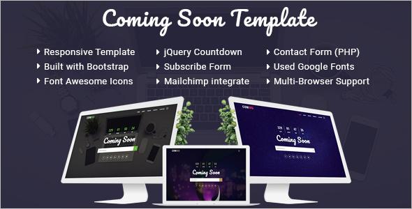 Minimal HTML Coming Soon Template