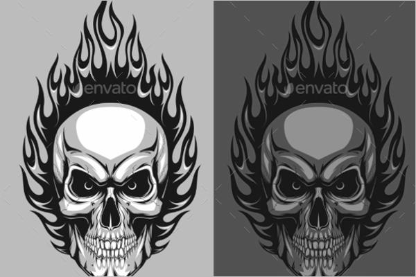 Minimal Human Skull Design