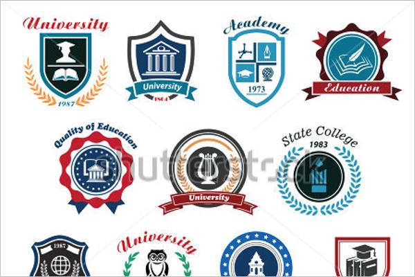 Minimal School Badges Design