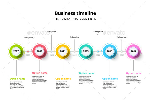 Minimal Timeline Infographic Template