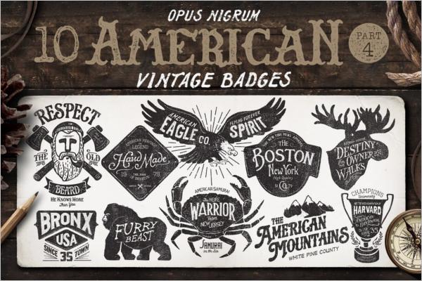 Minimal Vintage Badge Template