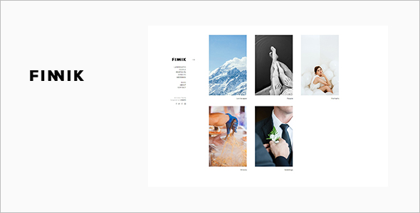 Minimal WordPress Theme for Photographers