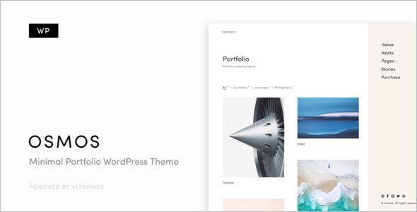 Minimalist Portfolio WordPress Theme