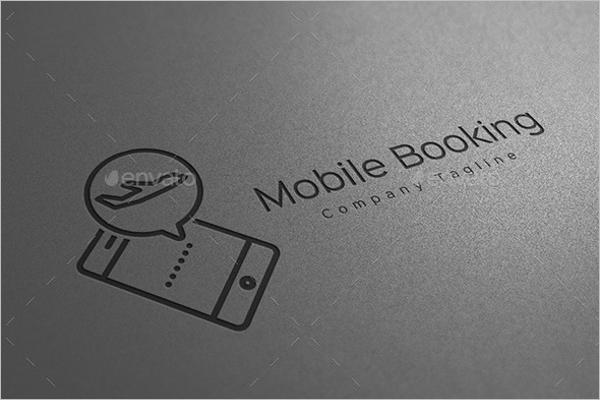 Mobile Online Travel Booking Logo Design