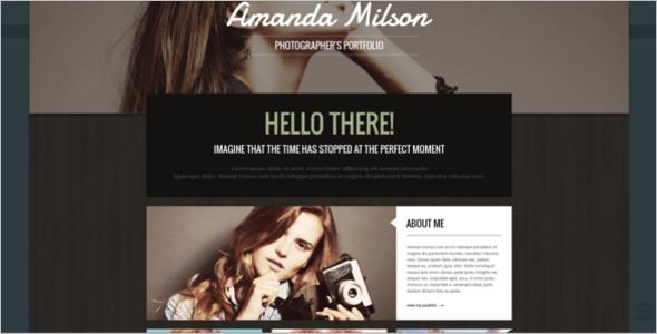 Model Photographer WordPress Theme
