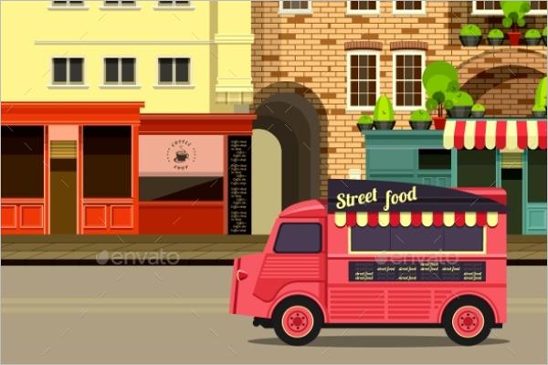 Modern Bus Illustration Vector