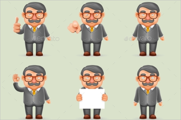 Modern Businessman Vector Design