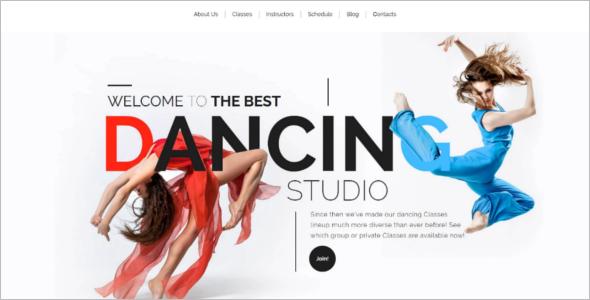 Modern Dance School WordPress Theme