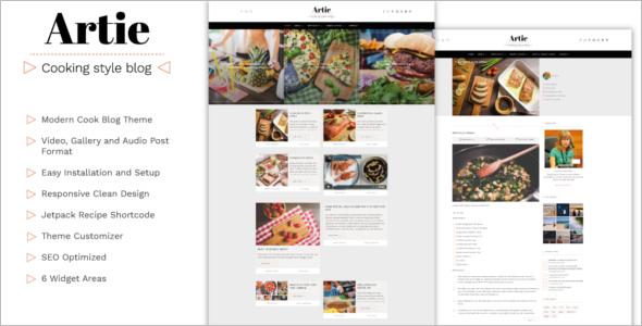 Modern Food WordPress Theme