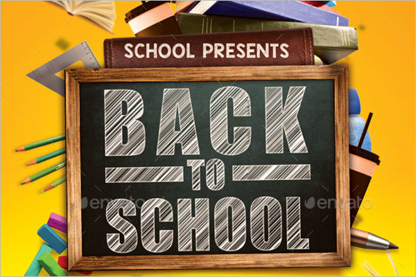 Modern Logo Back to School Background