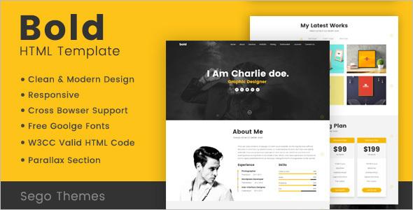 Modern Portfolio HTML Template