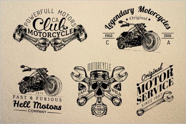 Modern Ride Badge Template