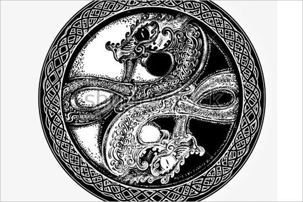 Modern Tattoo Dragon Design