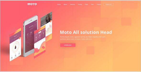 Moto Landing Page Template