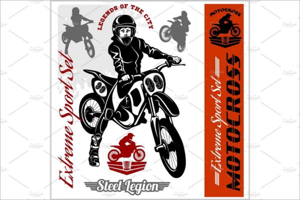 Motorcycle Logo Maker Design Template