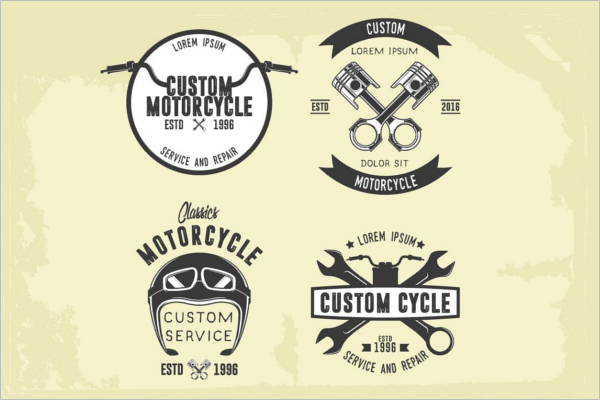 Motorcycle Ride Badge Template