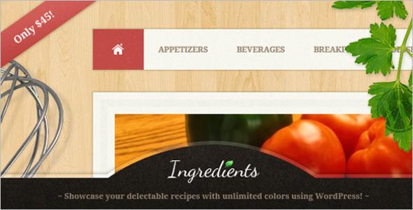 Multi Concept Recipe WordPress Theme