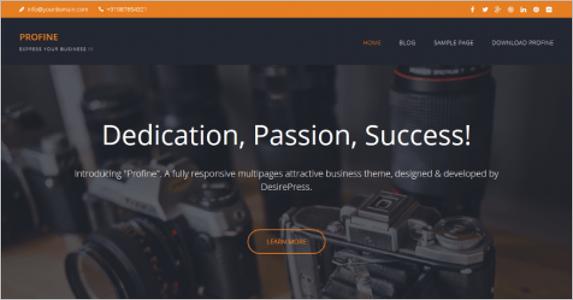 MultiPurpose Free Landing Page Theme
