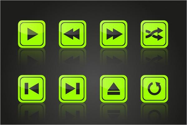 Multimedia Play Button Design