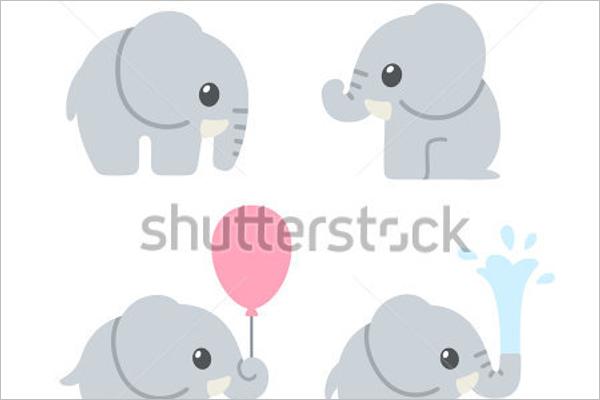 Multiple Cartoon Elephant Design