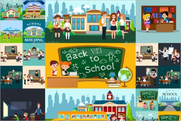 Multipurpose Back to School Background