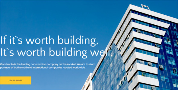 Multipurpose Construction HTML5 Template