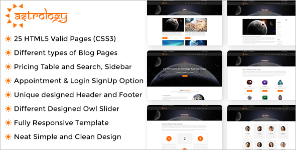 Multipurpose HTML Astrology Template