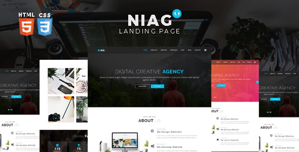 Multipurpose HTML Landing Page Template
