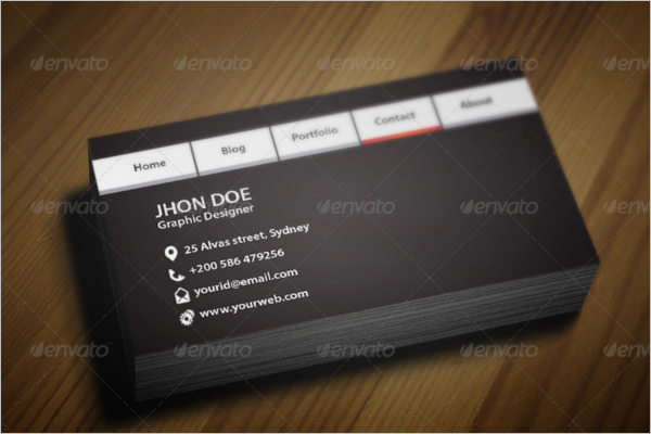 Navigation Bar Business Card